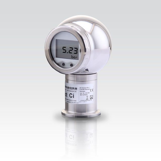process pressure transmitter with ball housing and LCD display